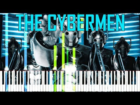 The Cybermen - Doctor Who [Synthesia Tutorial For Two Pianos]