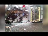 Появилось видео с места наезда автобуса на остановку с пассажирами в Москве