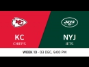 NFL 2017 / W13 / Kansas City Chiefs - New York Jets / CG / EN