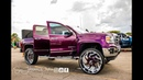 Candy purple, full of music, sitting tall: Chevy Silverado on Forgiato Wheels in HD