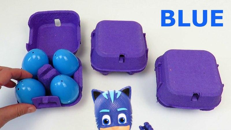PJ Masks eggs and Battat car toys PlayClayTV