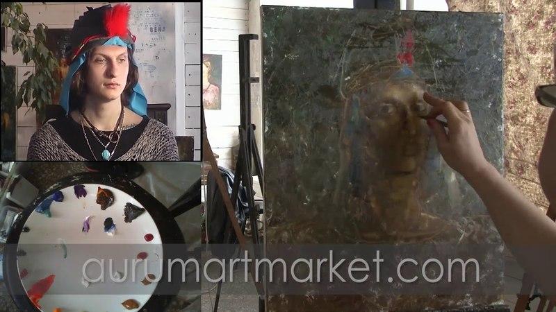 Мужской портрет маслом с Еленой Ильичевой