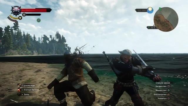 The Witcher 3 казньбой (полуторный меч, фехтование) coub