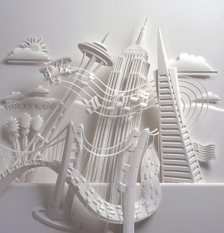 Бумажная архитектура скульптора Jeff Nishinaka