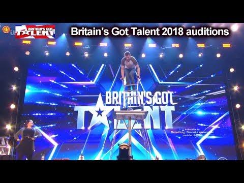 Sasha Williams UNBELIEVING BALANCING ACT Auditions Britain's Got Talent 2018 BGT S12E01