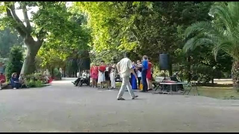Открытие сезона в Сочи. Изгиб гитары жёлтой(исп.народный хор Сочи)