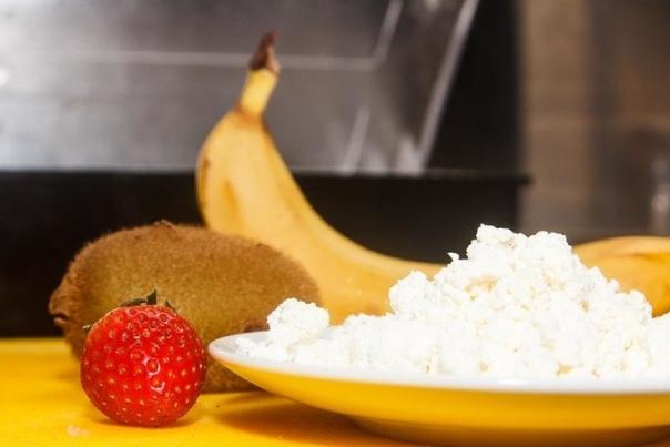 Творожный мусс с фруктовым смузи