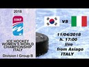 KOR vs ITA WOMEN'S WORLD CHAMPIONSHIP