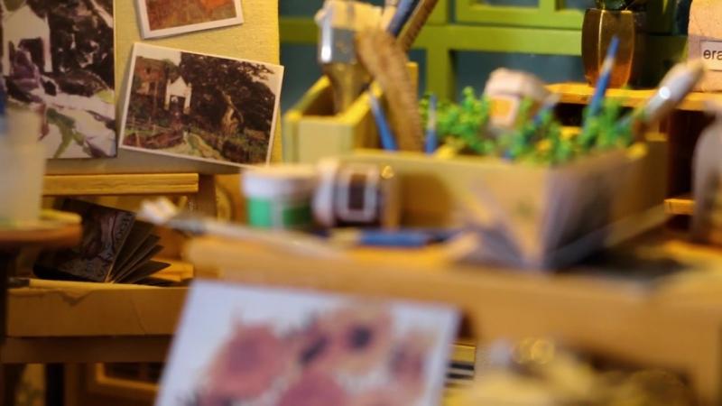 Robotime 3D деревянные головоломки, кукольный домик: Мастерская художника