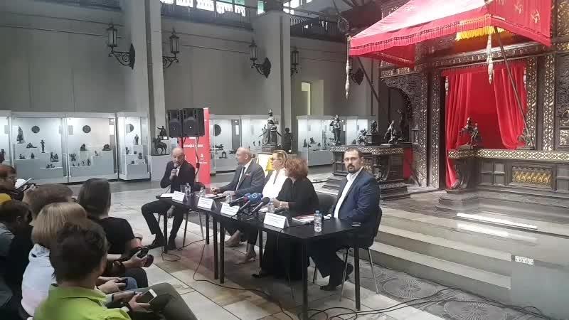 Пресс-конференция, посвященная открытию выставки Владелица Красного коня