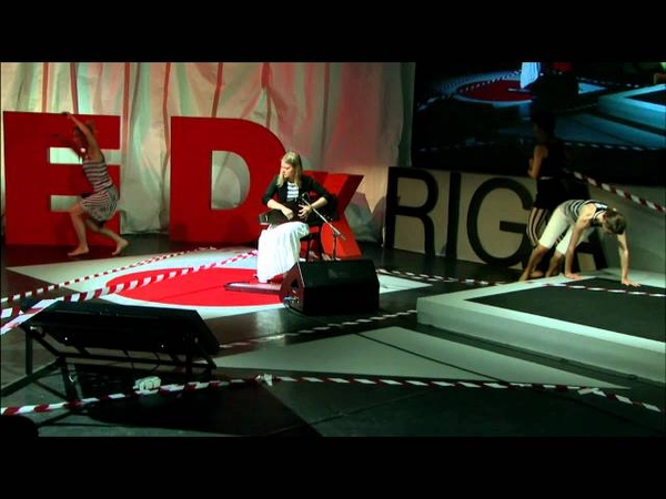 Moment of Improvisation Performance Laima Jansone at TEDxRiga