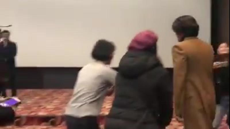 03.12.2017 Хён Бин на стадии приветствия фильма