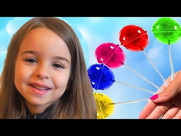 Learn Colors With Candy Giant Lollipops Orbeez for Kids Children Toddlers Songs Finger Family Nurser