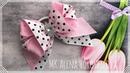 Бантики из репсовых лент МК Канзаши Алена Хорошилова tutorial ribbon bow laço de fitas из репса