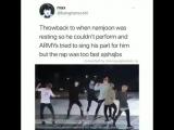 Однажды когда Намджун отдыхал потому что не мог выступать, арми пытались петь его партию, но рэп был слишком быстрым