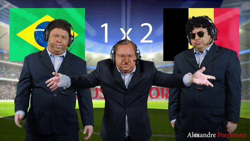 Brasil e Bélgica a verdade dos piores momentos Antes e depois
