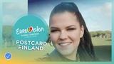 Postcard of Saara Aalto from Finland - Eurovision 2018