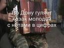 По Дону гуляет казак молодой с нотами в цифрах