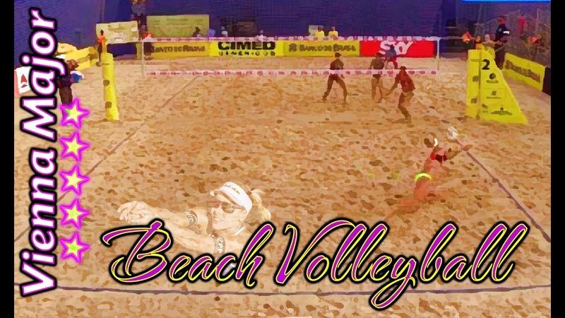 Beach Volleyball - Vienna - Jacob Gibb Taylor Crabb (USA) vs Leshukov Semenov (RUS)