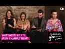 Hilary Duff Sutton Foster Nico Tortorella and Debi Mazar play Whos Most Likely To 25 04 2018