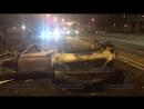 В Красногвардейском районе Петербурга BMW въехал в столб, перевернулся и загорелся