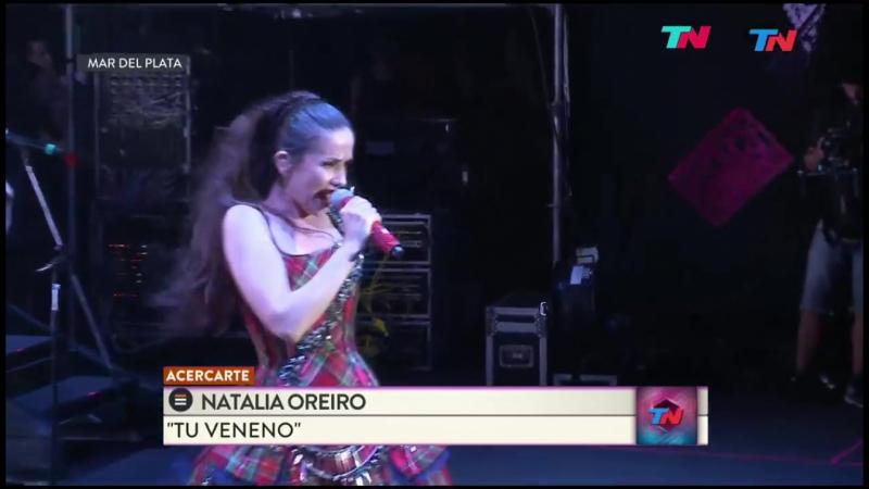 Natalia Oreiro Tu Veneno Festival AcercArte Mar del Plata 2017