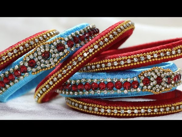 How to Make Silk Thread Fancy Tassel Designer Bangles at Home By CraftingHours