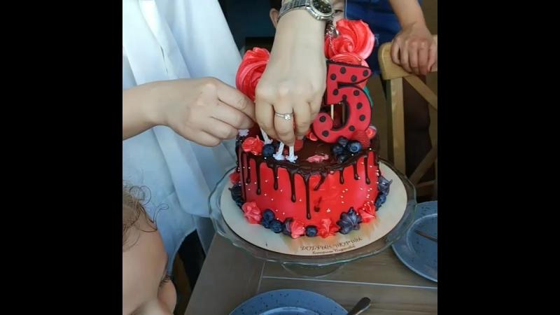 Вынос торта Леди Баг
