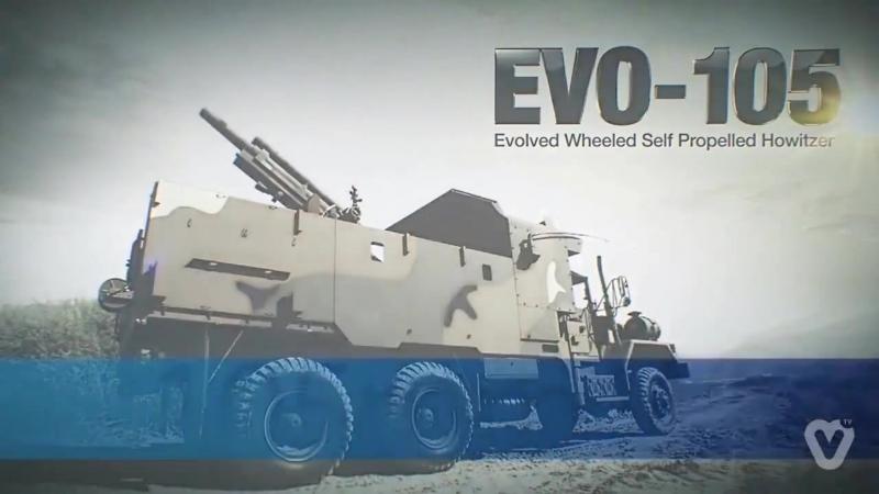 Samsung Techwin - EVO-105 105мм Evolved Колесная самоходная гаубица [720p]