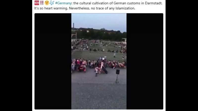 Germany: the cultural cultivation of German customs in Darmstadt. It's so heart warming. Nevertheless, no trace of any Islamizat
