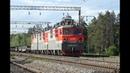 ВЛ80С 1077 с грузовым поездом. Перегон Чугун-2 - Казинка Юго-Восточной железной дороги.