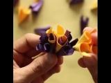 Простые цветы из бумаги!