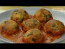 Безумно вкусные тефтели из баклажанов в томатном соусе