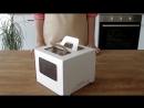 Коробка для торта 4 окна с ручками