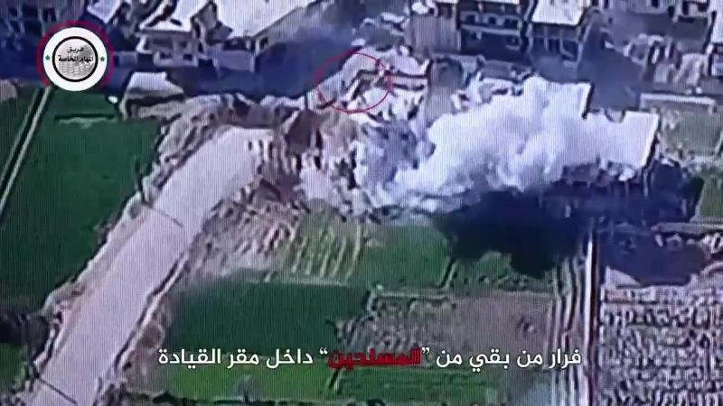 Танки САА атакуют боевиков в г. Jisrin Восточная Гута.