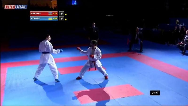 Рафаель Агаев (AZE) - Станистав Горуна (UKR) Золотая медаль Karate