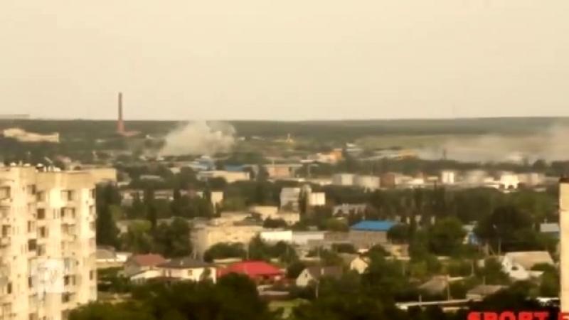 Луганск обстрел района поселка Роскошное и кв.Мирный 13.07.2014