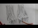 Как нарисовать ткань и складки карандашом. Основные проблемы и ошибки с драпировкой