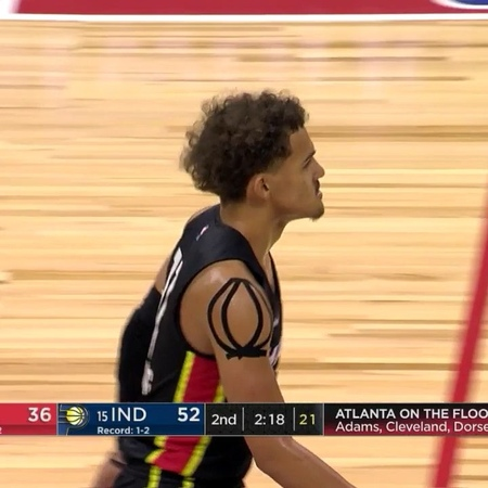 """23 PTS 8 AST for traey oung as he led the @atlhawks back from 27 down to defeat the Pacers!"""""""
