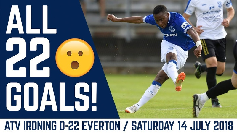 ALL 22 GOALS! | ATV IRDNING 0-22 EVERTON MARCO SILVA'S FIRST GAME