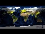 Суточный авиатрафик по всему миру