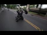 Врезался на квадроцикле