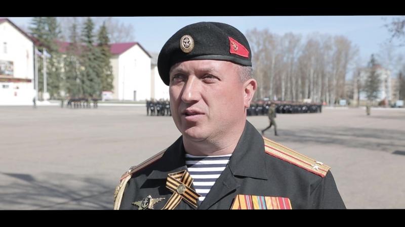 Кинокомпания «Союз Маринс Групп» на репетиции парадного полка в Алабино