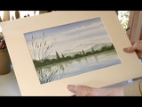 A 30 Minute Watercolour Painting, a Mountainside Lake