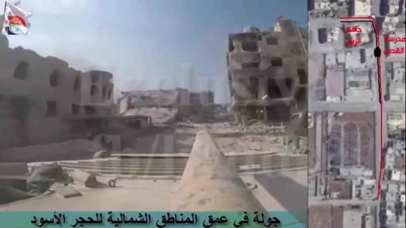 Лива аль Кудс в районе Черный Камень. Видео с привязкой к местности