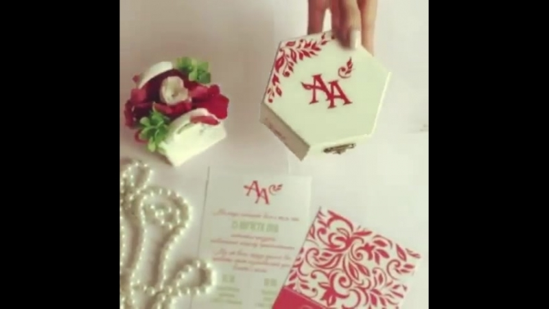 Зацените нашу красоту 😊 Шкатулочка для колец Ручная роспись в одном стиле с пригласительными шкатулка шкатулкадляколец ру