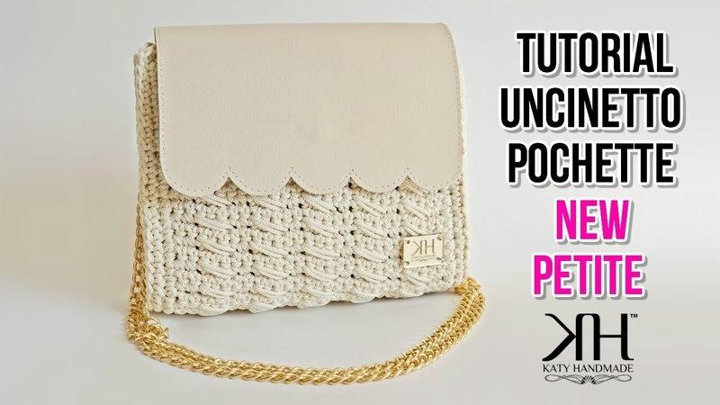 TUTORIAL UNCINETTO pochette New Petite- Nuova lavorazione maglia obliqua crochet ♡ Katy Handmade