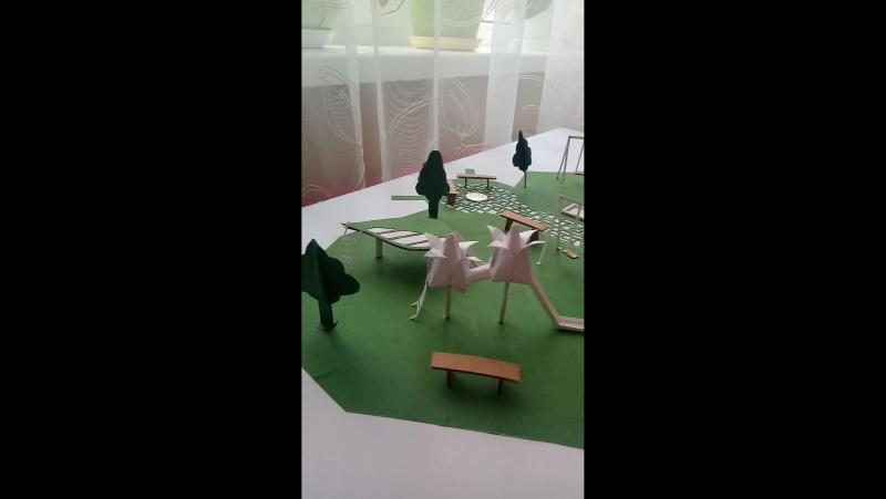 Макет детской игровой площадки (Kyle Dixon Michael Stein - Eulogy)