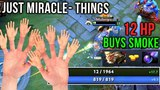 Just Miracle- Things! Extremely Fast Hands Monkey King Rampage - EPIC Survive with 12 HP Dota 2
