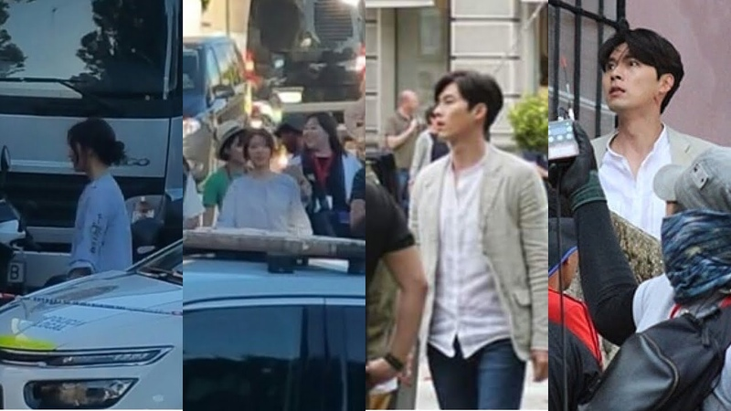 Hyun Bin and Park Shin Hye spotted filming Memories Of The Alhambra in Granada, Spain